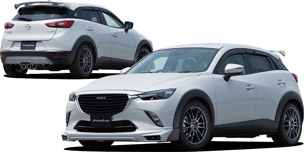 mazda cx 3 tuned by autoexe looks like a track ready suv. Black Bedroom Furniture Sets. Home Design Ideas