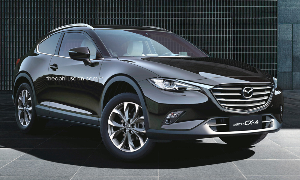 All New Mazda3 2019 >> Mazda CX-4 Coupe Rendering Looks Sexy Yet Impractical - autoevolution