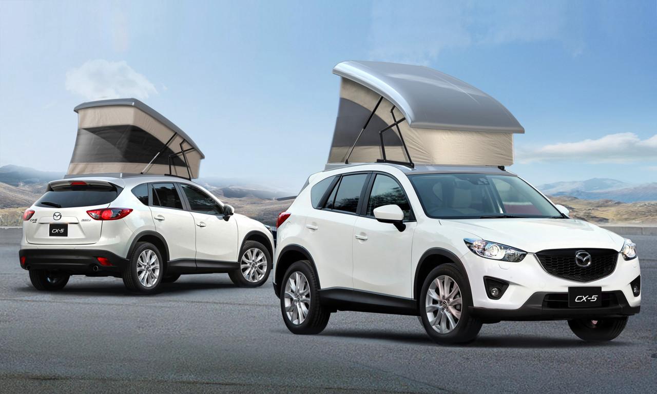 Mazda CX-5 Gets Pop-Up C&ing Tent in Japan & Mazda CX-5 Gets Pop-Up Camping Tent in Japan - autoevolution