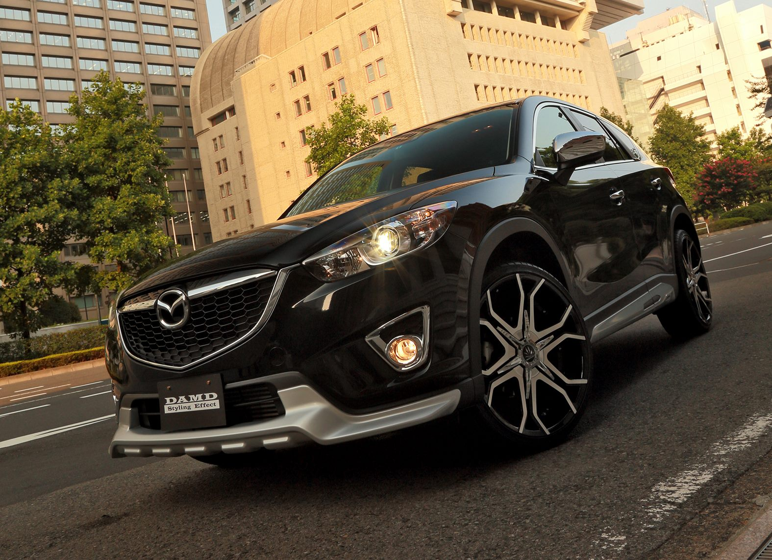 Mazda Cx 5 Suv Gets A Silver Chin From Japanese Tuner Damd