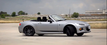 Mazda Drifts Miata / MX-5 to Write Thank You Message for Facebook Fans [Video]