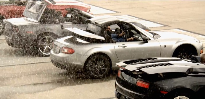 Mazda MX-5 Beats Porsche 911, Lamborghini Gallardo in Special Quarter-Mile Run [Video]