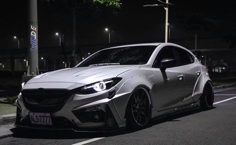 Mazda3 Gets Awesome Widebody Kit in Taiwan - autoevolution