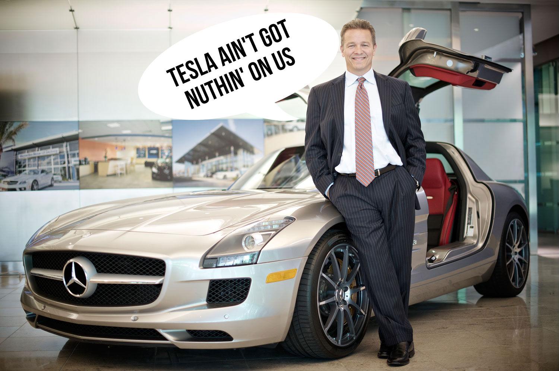 Mb Usa Ceo Makes Fun Of Tesla Motors Size Autoevolution