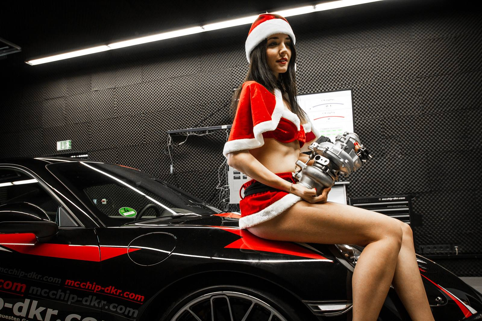 Sexy santa helper girl