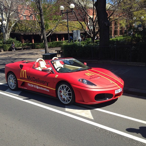 Mcdonald S Delivering Food In A Ferrari Only In Australia