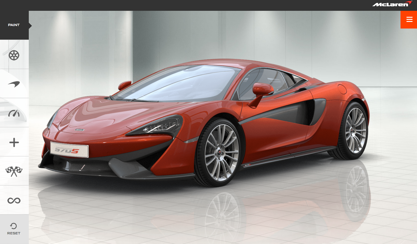 mclaren 570s configurator is online autoevolution. Black Bedroom Furniture Sets. Home Design Ideas