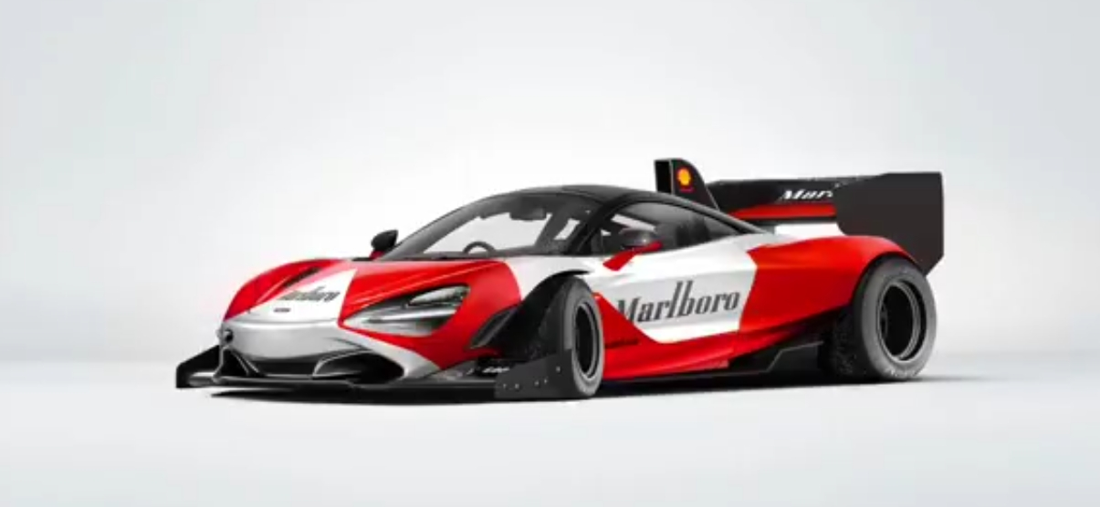 McLaren 720S Racecar with Marlboro Livery Rendered with Formula One ...