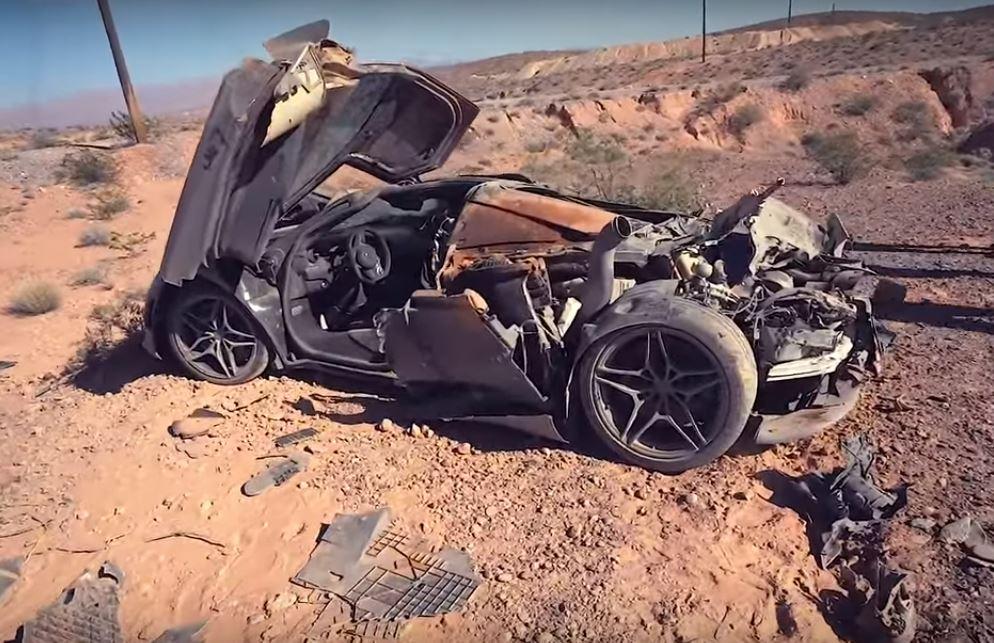 Mclaren 720s Totaled In Las Vegas Crash Looks Like A