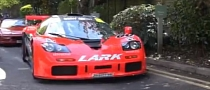 McLaren F1 GTR Street Car Mixes Red with Pink [Video]