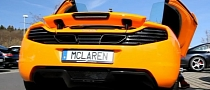McLaren MP4-12C with Vanity Plates on Nurburgring [Video]