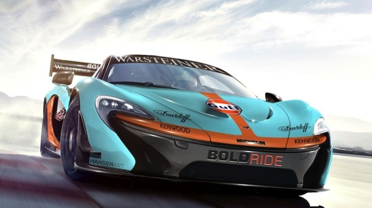 McLaren P1 Goes Racing, Becomes GTR Gulf Concept [Virtual Tuning]