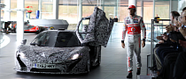McLaren P1 in Camo Turns Up at F1 Car Debut