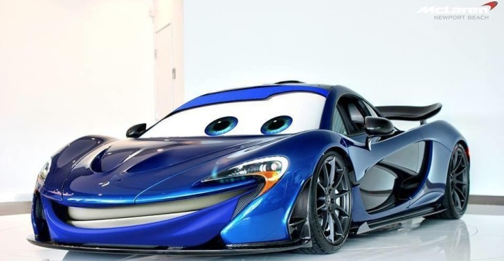 Mclaren P1 Puts On Cars Movie Face Autoevolution