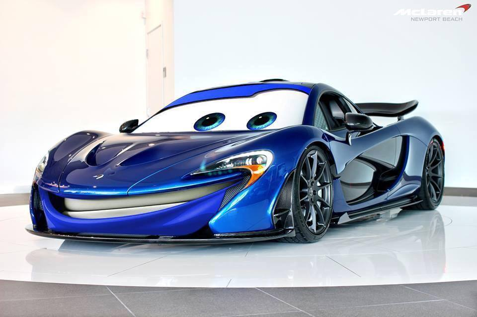 Mclaren P1 Puts On Cars Movie Face Autoevolution