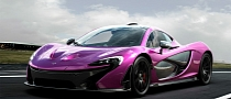 McLaren P1 Rendered in Violet