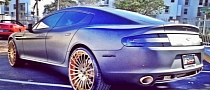 Meek Mill Puts Gold Rims on His Aston Martin Rapide