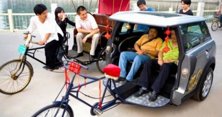 Meet the MINI Rickshaw Taxi from China