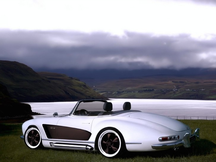 Mercedes 300 SL Roadster With Wide Body Kit [Photo Gallery]