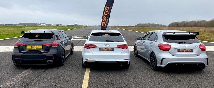 Mercedes-AMG A45 S Drag Races Audi RS3 and old A45 - autoevolution
