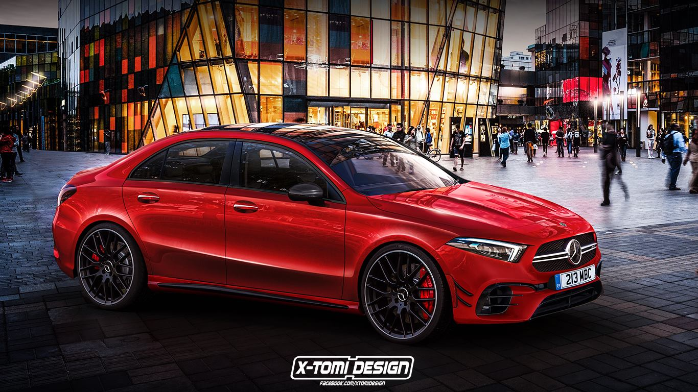 mercedes amg a45 sedan rendering doesn 39 t look that hot autoevolution. Black Bedroom Furniture Sets. Home Design Ideas