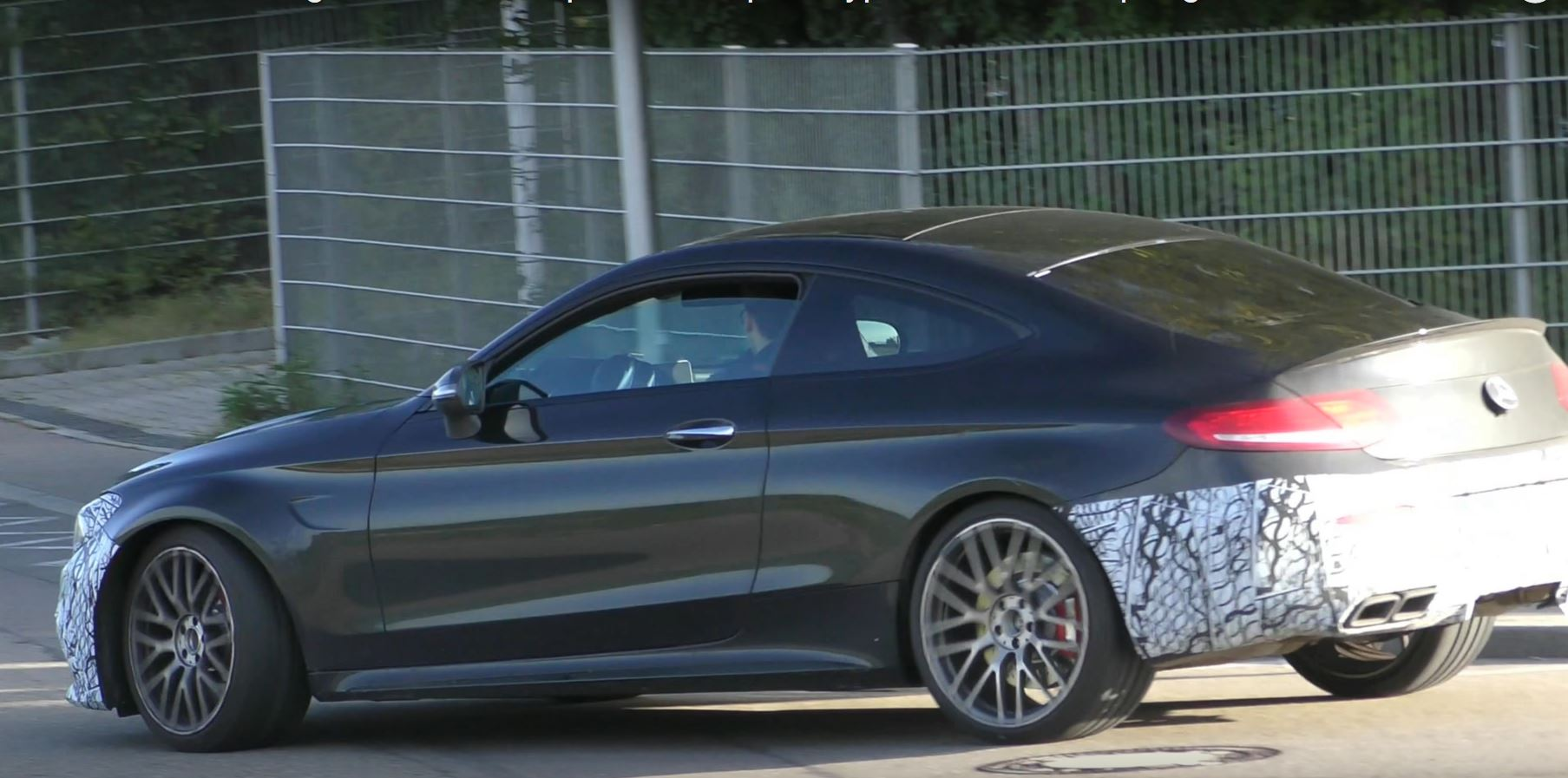 2018 mercedes amg c63 coupe facelift continues to test in germany autoevolution. Black Bedroom Furniture Sets. Home Design Ideas