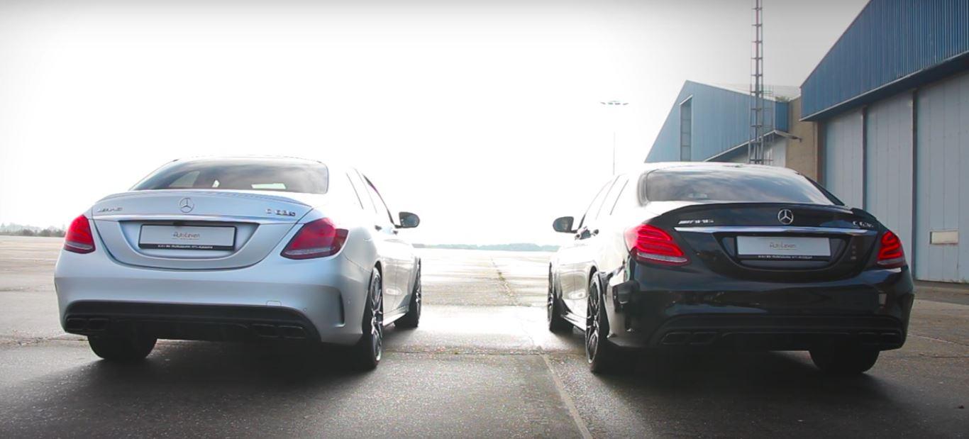 Mercedes-AMG C63 S Standard vs Performance Exhaust