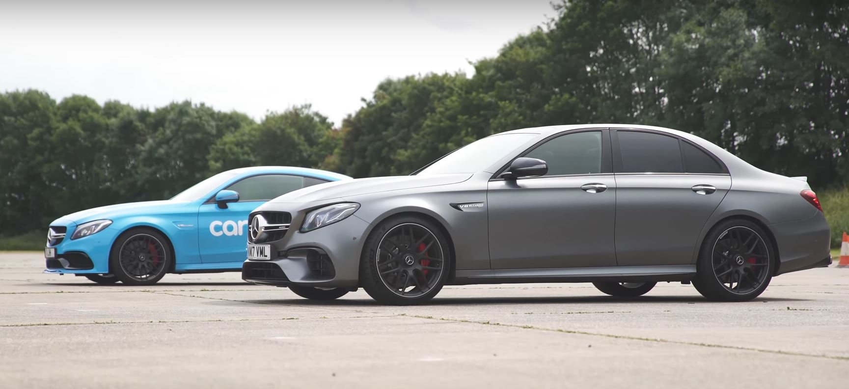 mercedes amg e63 s vs c63 s coupe drag race proves awd. Black Bedroom Furniture Sets. Home Design Ideas