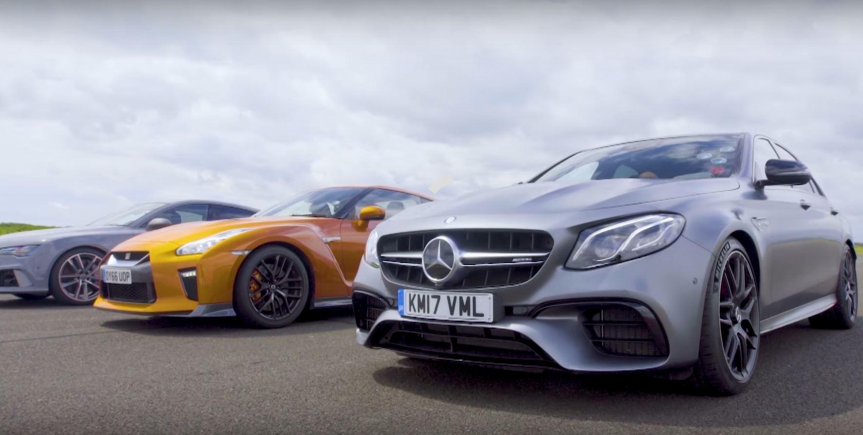 Mercedes-AMG E63 vs. Nissan GT-R vs. Audi RS7: a Drag Race Full of ...