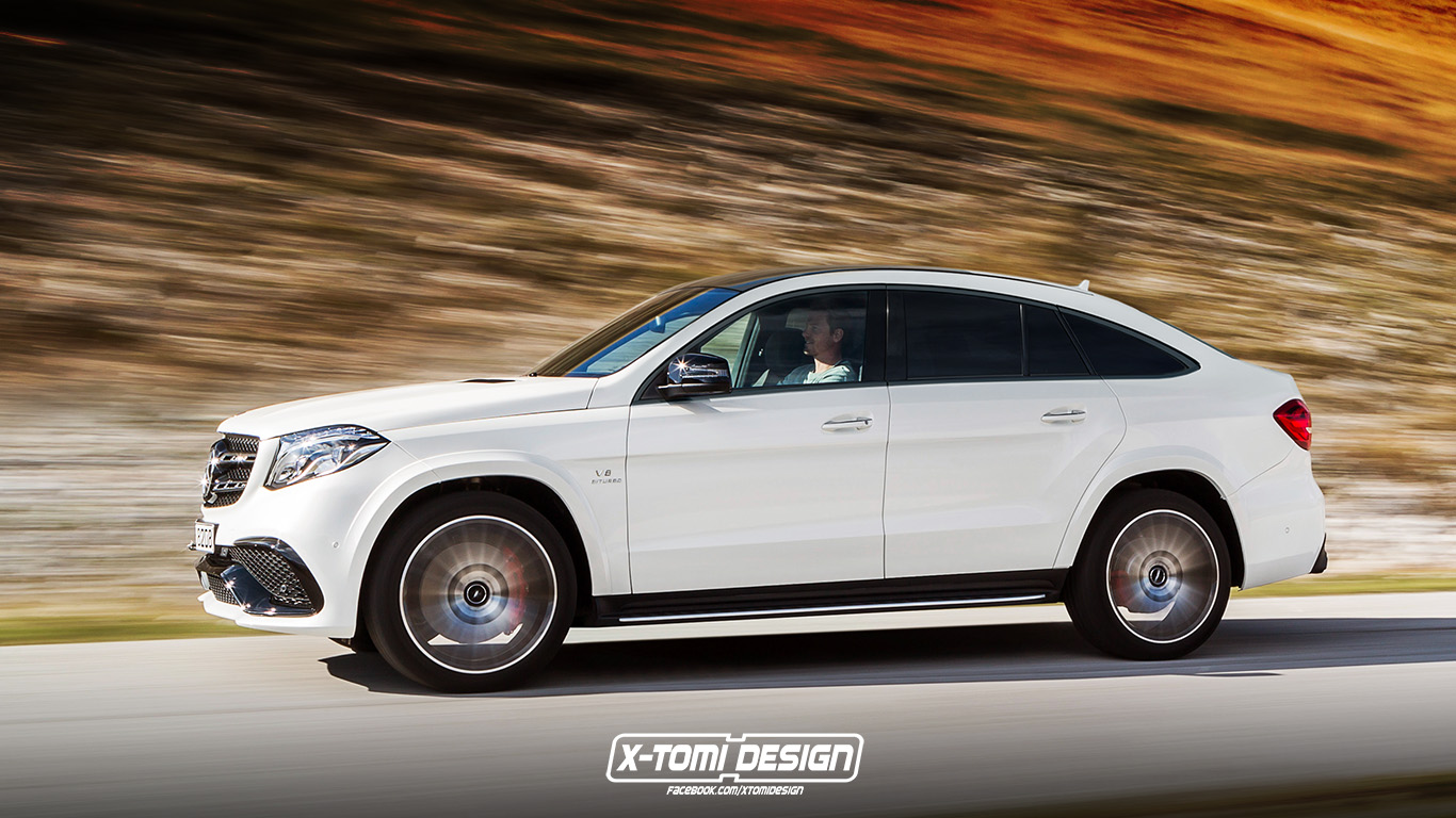 Mercedes amg gls63 coupe 4matic imagined because the sky s for Mercedes benz suv coupe