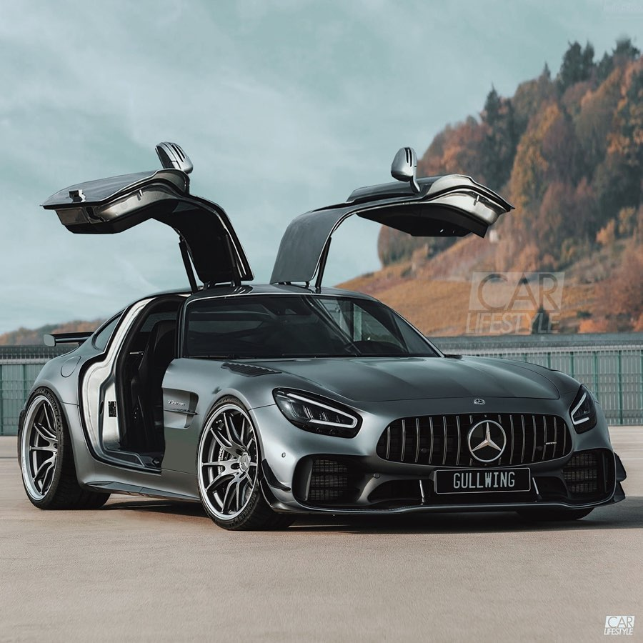 Mercedes Amg Gt Gullwing Concept Is What Nostalgia Looks Like Autoevolution