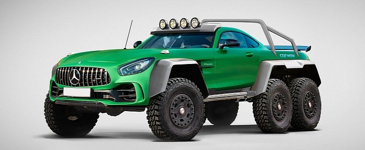 Mercedes Amg Gt R 6x6 Rendering Reveals Hulk Of The Green