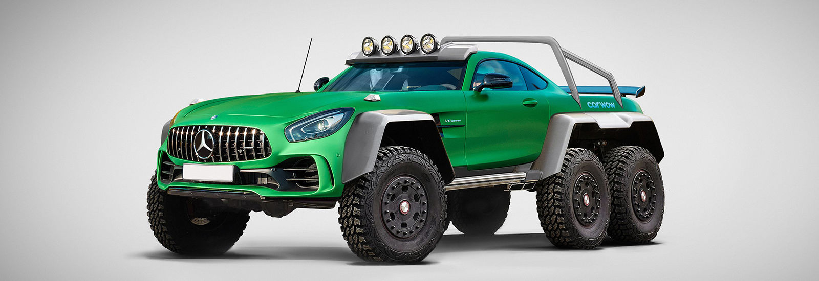 mercedes amg gt r 6x6 rendering reveals hulk of the green hell autoevolution. Black Bedroom Furniture Sets. Home Design Ideas