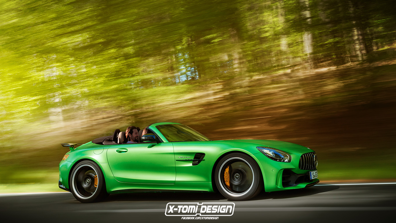 mercedes amg gt r roadster rendering might actually happen. Black Bedroom Furniture Sets. Home Design Ideas