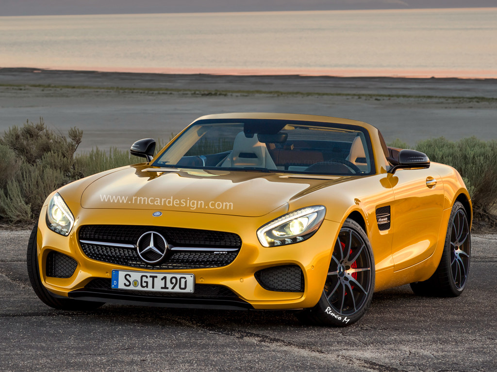 mercedes amg gt roadster looks relaxed and ready for bmw z5 in new rendering autoevolution. Black Bedroom Furniture Sets. Home Design Ideas