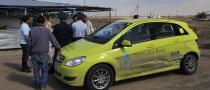 Mercedes B-Klasse F-Cell Damaged in Kazakhstan While on World Tour