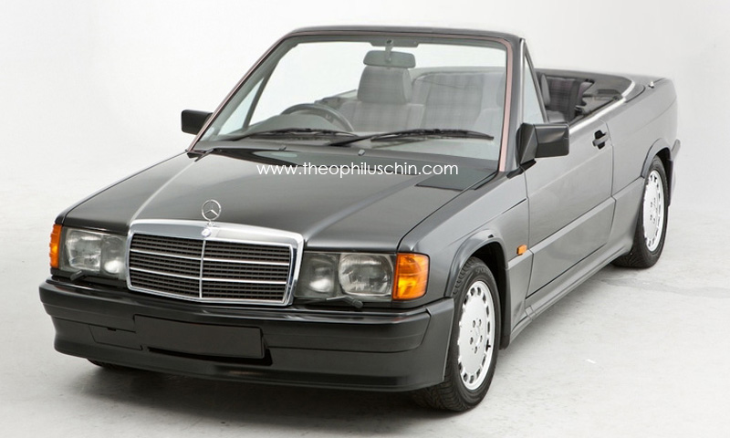 The mercedes benz 190 e w201 cabrio that never existed for Mercedes benz 190 e