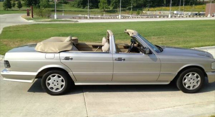 mercedes benz 560 sel w126 four door convertible