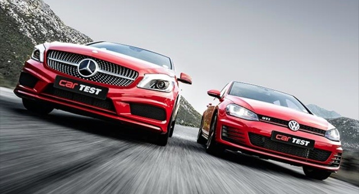 Mercedes benz a 250 vs vw gti by car magazine south africa for Mercedes benz volkswagen