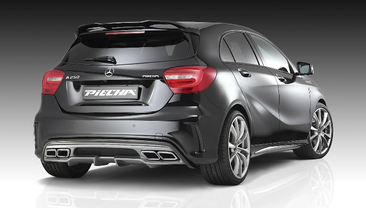 mercedes benz a class w176 gets new look from piecha design autoevolution. Black Bedroom Furniture Sets. Home Design Ideas