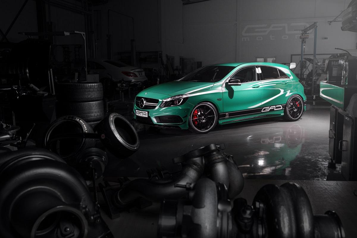 mercedes benz a45 amg boosted to 430 hp by gad motors. Black Bedroom Furniture Sets. Home Design Ideas