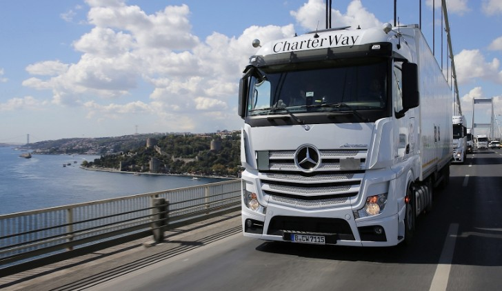 Mercedes-Benz Actros Convoy with Supplies for Syrian Refugees Arrives at Destination