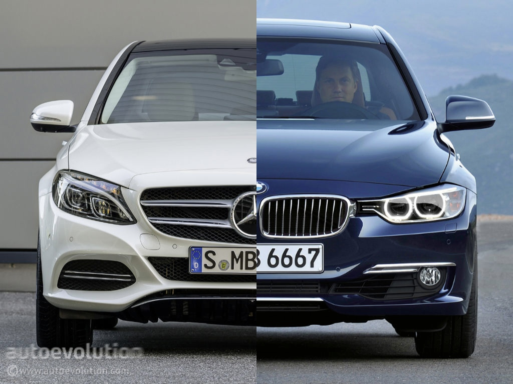 mercedes benz c 220 bluetec w205 vs bmw 320d f30 autoevolution. Black Bedroom Furniture Sets. Home Design Ideas