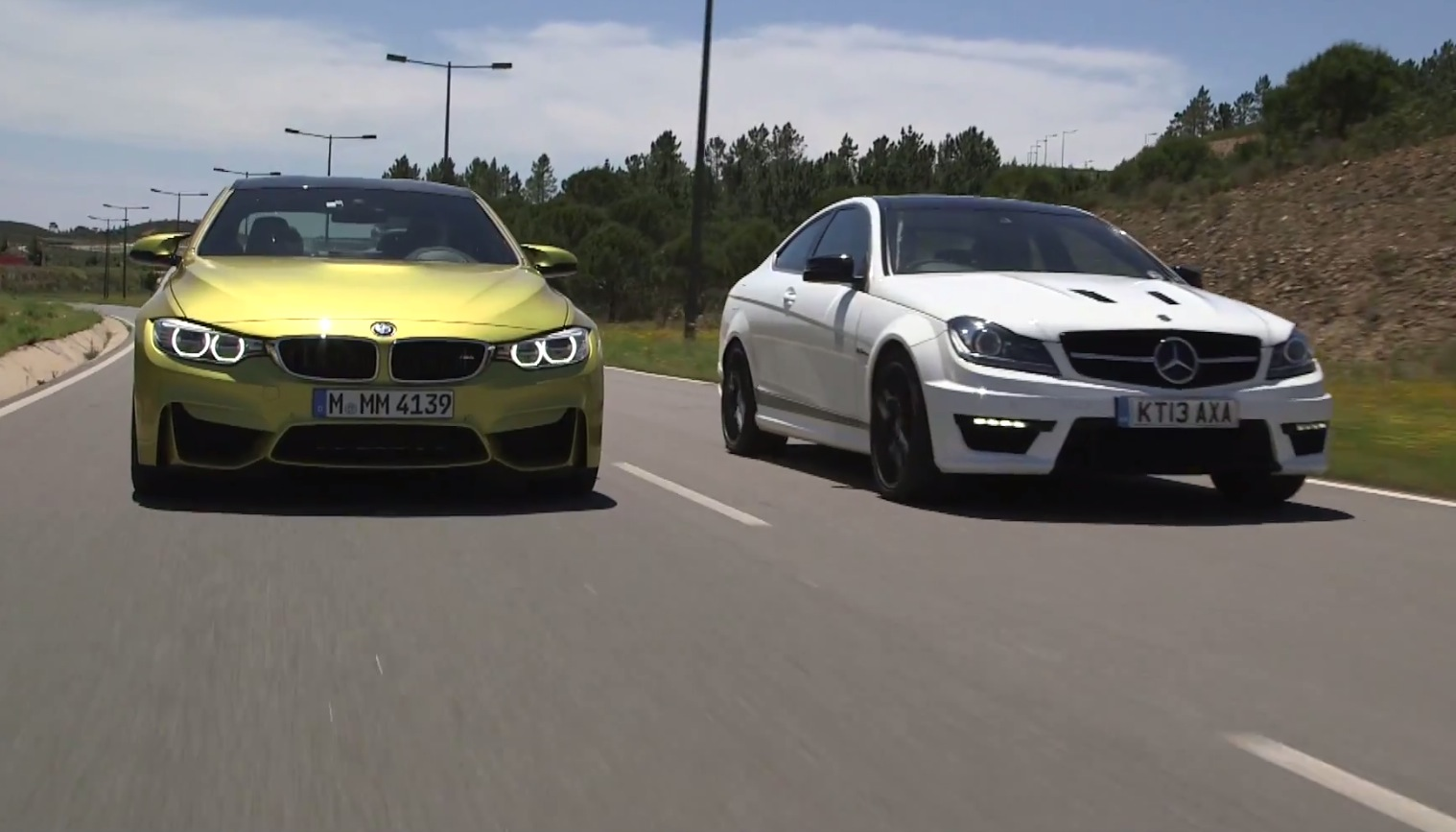 Mercedes benz c 63 amg coupe 507 vs bmw m4 autoevolution for Mercedes benz or bmw