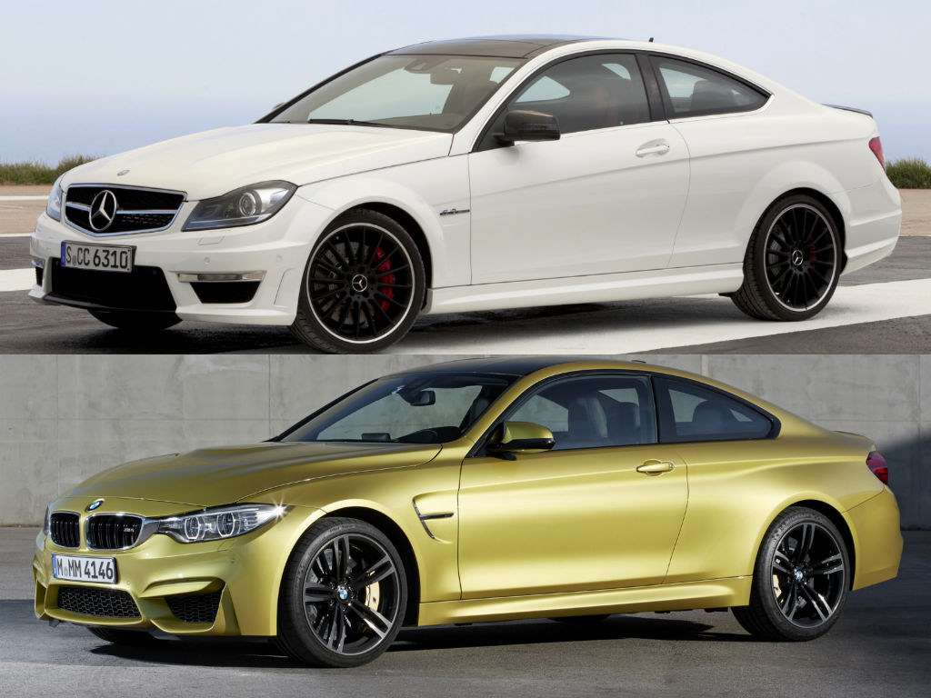 Mercedes Benz C 63 Amg Coupe Vs Bmw M4 Speedometer Battle
