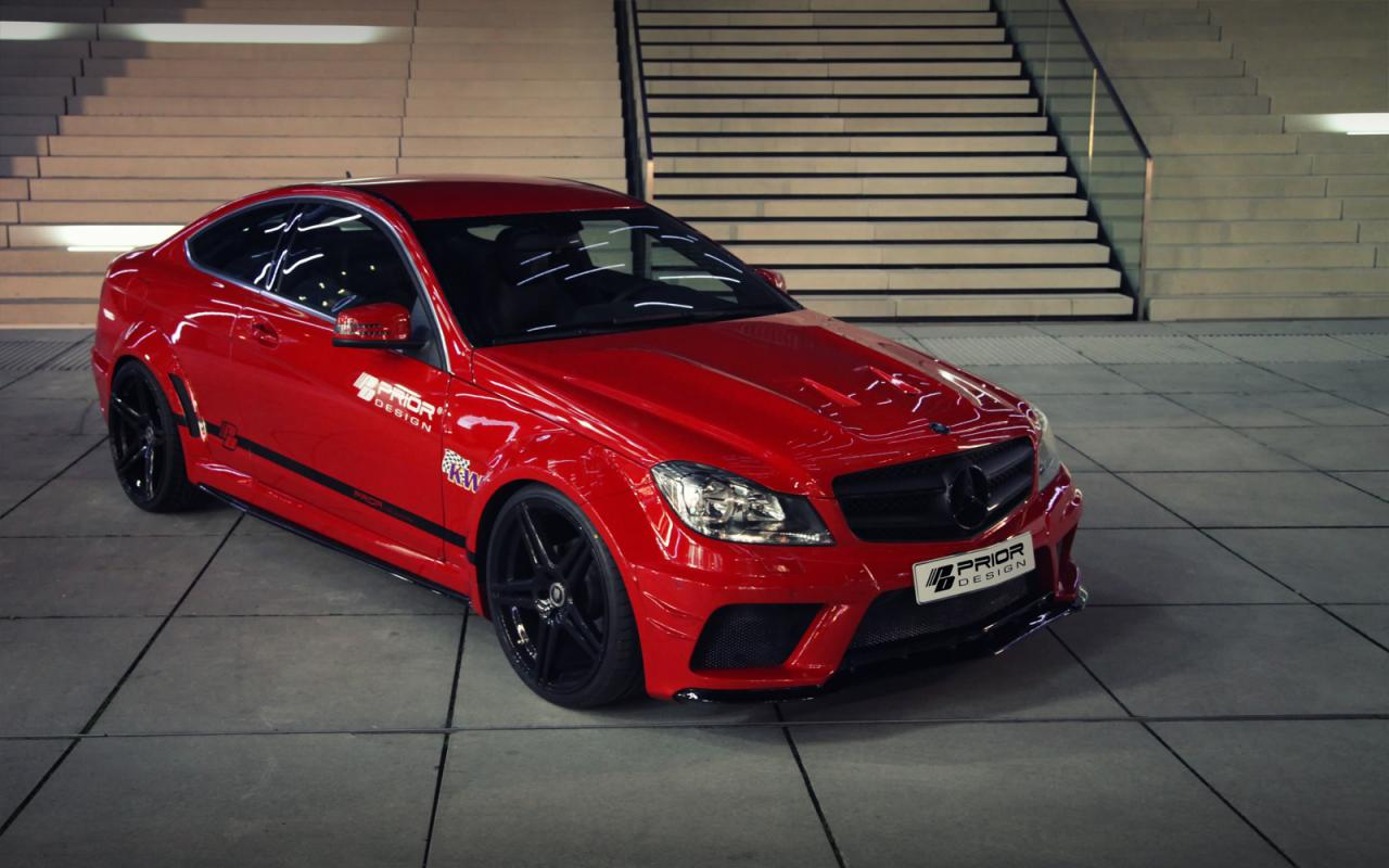 Mercedes benz c class coupe gets prior design wide body for Mercedes benz c300 body kit