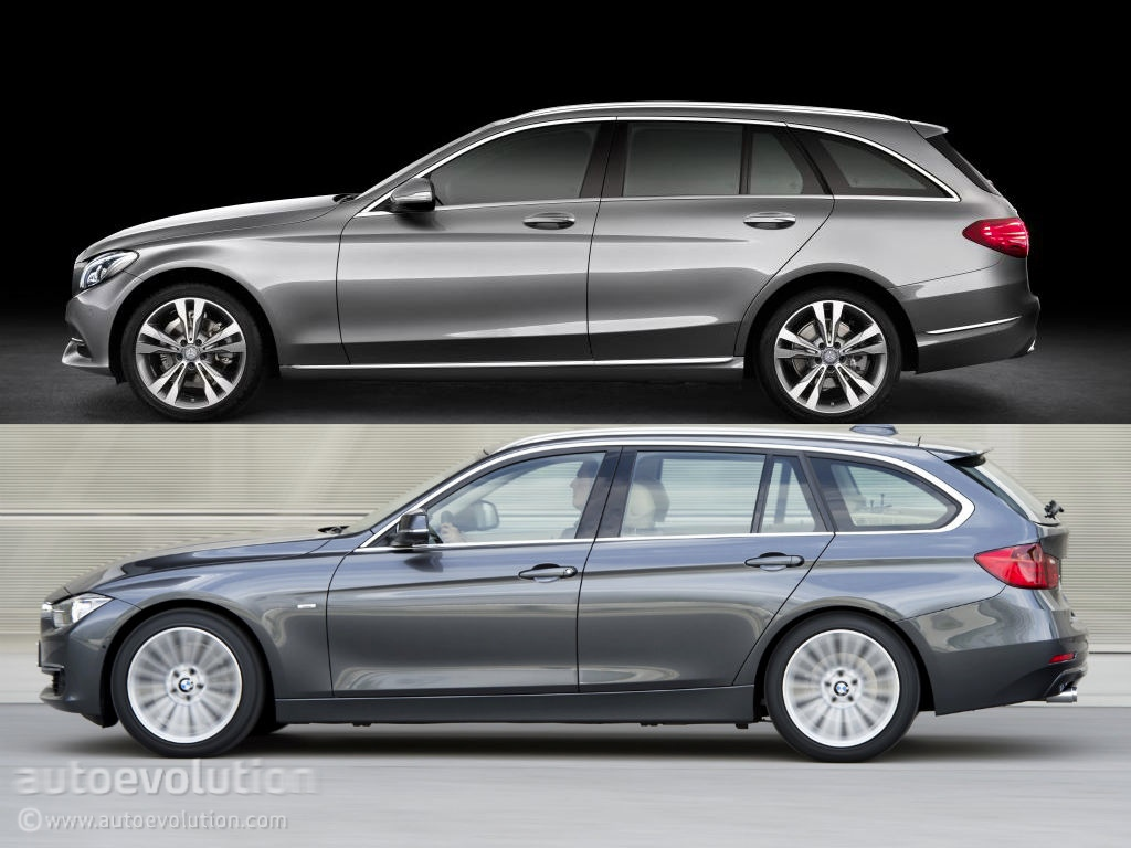 mercedes benz c class estate s205 vs bmw 3 series touring. Black Bedroom Furniture Sets. Home Design Ideas
