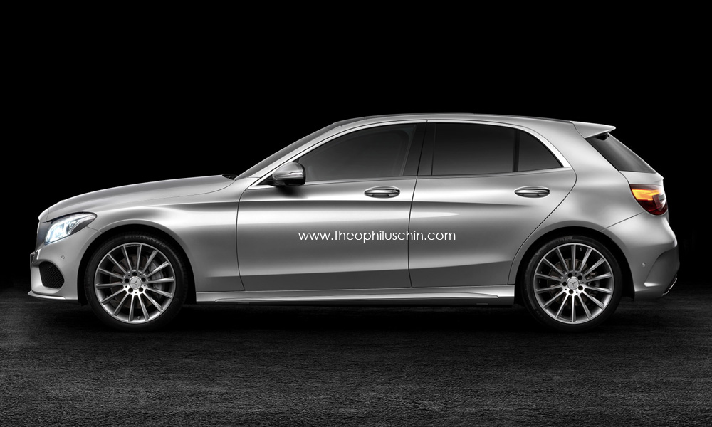 Mercedes benz c class w205 envisioned as a hatchback for Mercedes benz hatchback models