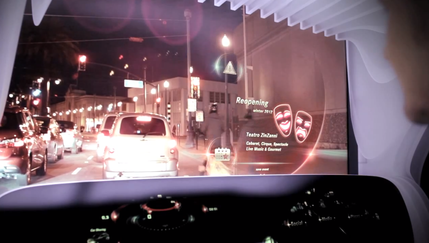 Mercedes benz changes mind about head up display for Mercedes benz heads up display