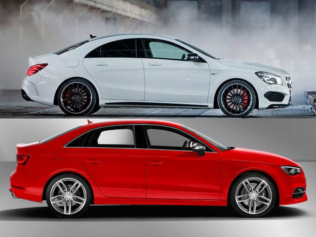 mercedes benz cla 45 amg vs audi s3 speedo acceleration. Black Bedroom Furniture Sets. Home Design Ideas